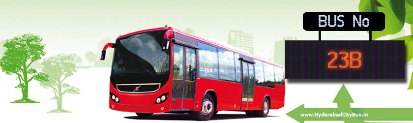 23B no Bus Route Hyderabad City Bus Timings, Route 23B Bus Stops, Frequency, 23B First & Last Bus